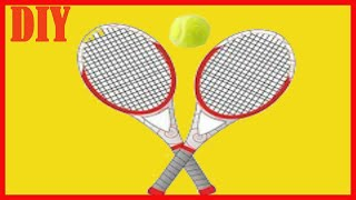 How To Make A Tennis Racket Easy /Doll Craft