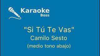 Si tu te vas, medio tono abajo karaoke