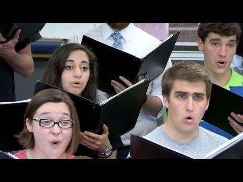 Choir rehearses LaRose's 'The Londonderry Air'