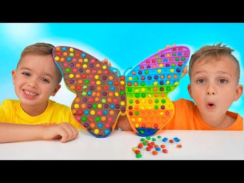 Vlad and Niki Chocolate Pop it Challenge