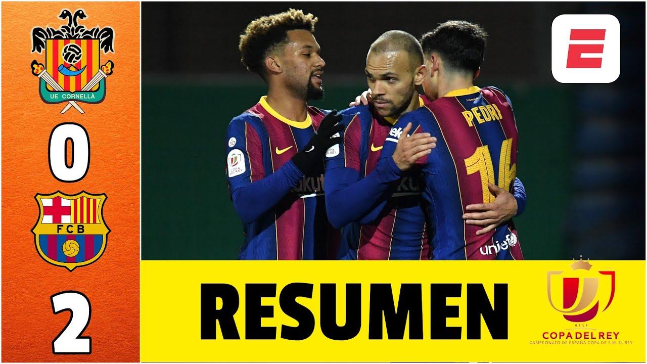 Cornellà 0-2 Barcelona ¡Cómo SUFRIÓ! Falló dos penales. Sin Messi, ya está en cuartos | Copa del Rey