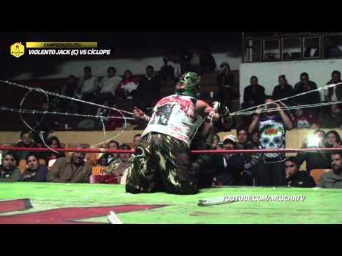 Violento Jack vs Cíclope por el Campeonato DTU en Rancho de Texas, en Ofrendas Extremas