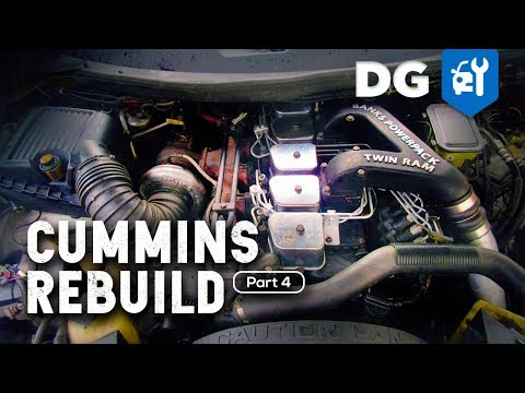 How To Rebuild A 5.9 Cummins 12v Diesel In A Million Mile Dodge (Part 4)