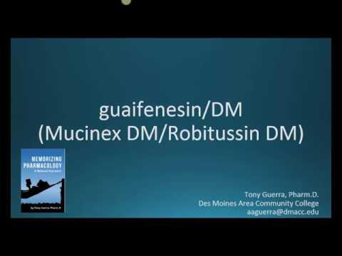How To Pronounce Guaifenesin DM (Mucinex DM, Robitussin DM) (Memorizing Pharmacology Flashcard)