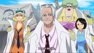 Vice Admiral Tsuru and Sengoku in the New World HD One piece episode 740
