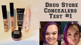 Drug Store Concealer Test #1 - Under $10 - NYX & Loreal