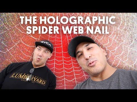 THE HOLOGRAPHIC SPIDER WEB NAIL (GEL NAIL) - VLOG 68