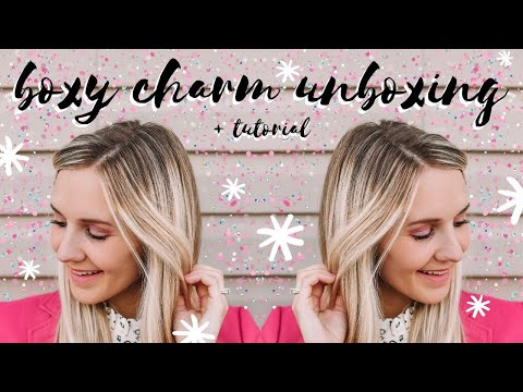 BEAUTY || boxy charm august unboxing + pink glitter eyeshadow tutorial