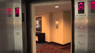 Schindler Miconic 10 Traction Elevators - New York Marriott Marquis - New York, NY [Low Rise]