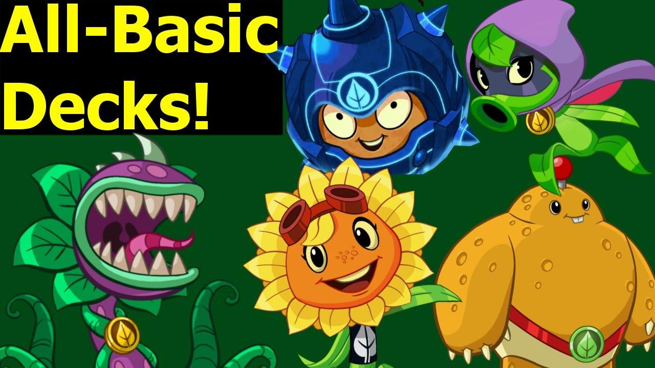 Pvz Heroes Basic Cards Decks Green Shadow Solar Flare