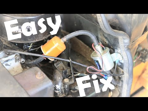 Mechanical To Electric Fuel Pump Conversion In Lawnmower Youtube
