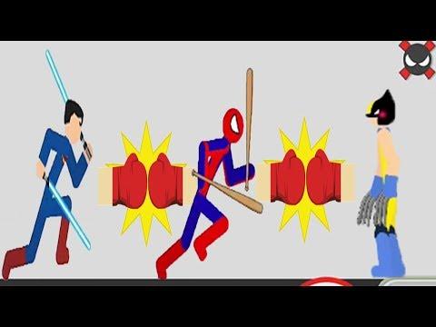Stickman Backflip Killer 3 :  Spiderman vs Wolverine vs Superman All Levels - Android GamePlay