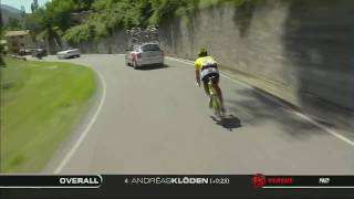 Fabian Cancellara decent and chaseback Stage 7 2009 TdF