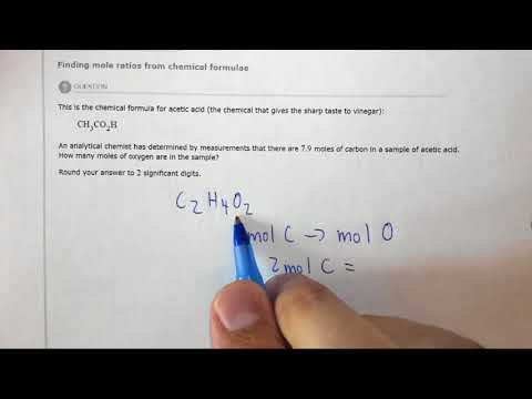 5.1e Finding Mole Ratios From Chemical Formulae