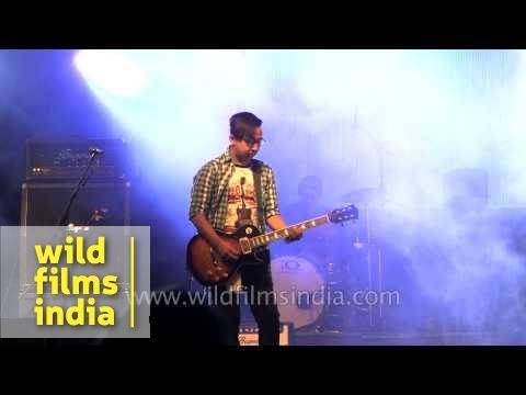 Darjeeling based band 'Black Dog Machine Gun' live in Kohima