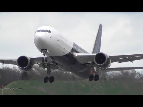 Titan Airways Boeing 767 Super Short Departure at Cambridge Airport