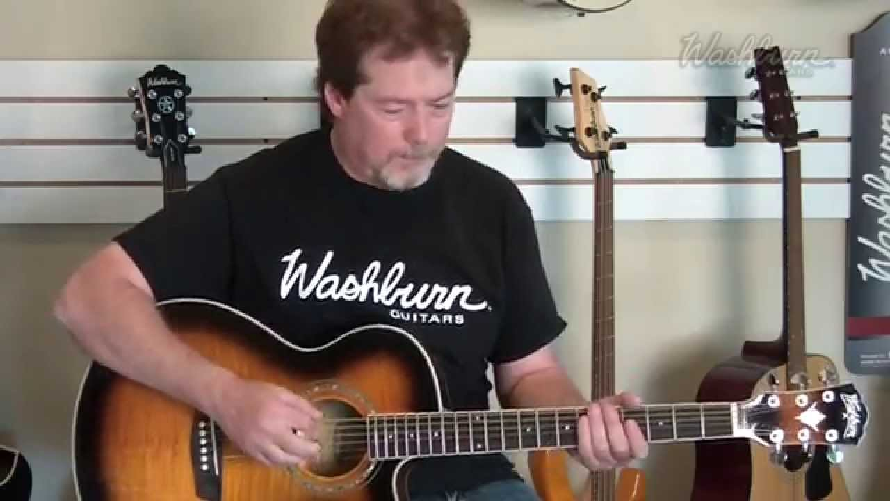 demo washburn ea15atb ea15itb acoustic electric guitar youtube. Black Bedroom Furniture Sets. Home Design Ideas