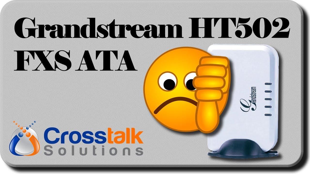 Grandstream HT502 ATA Vista
