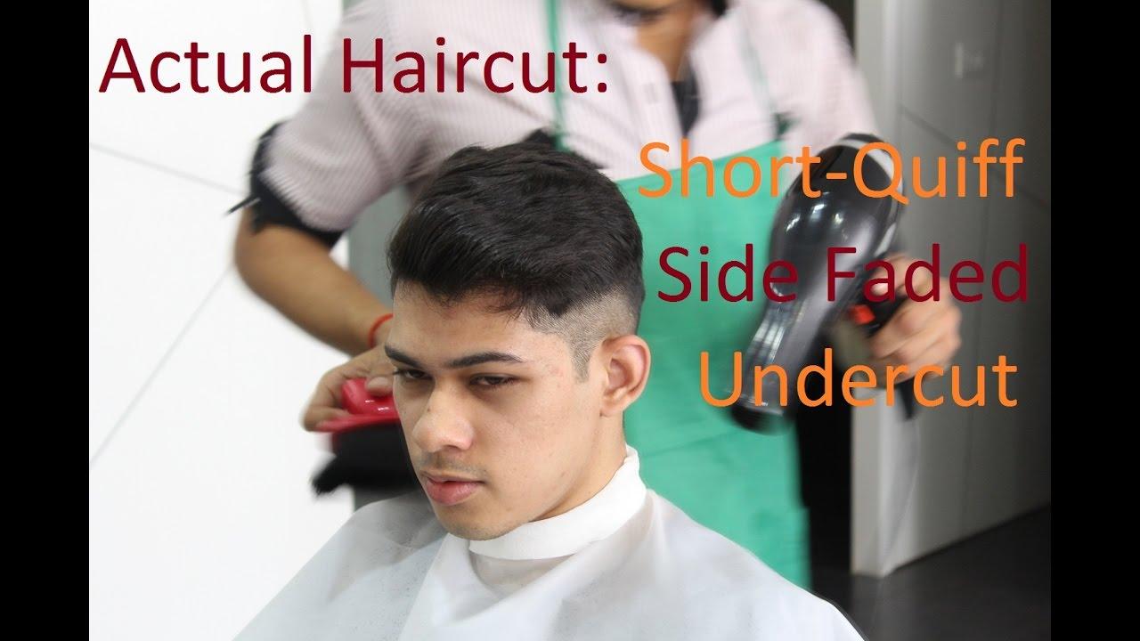 Men s disconnected undercut from schwarzkopf professional - Actual Haircut Short Quiff Side Faded Undercut Schwarzkopf Post Styler