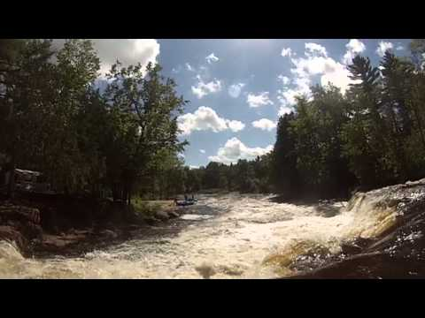 Kayaking Sullivan Falls, Wolf River WI