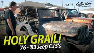 HOLY GRAIL '76 to '83 Jeep CJ5's! We've got 'em ALL!