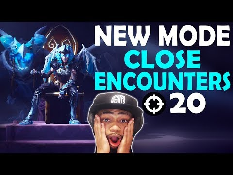 CLOSE ENCOUNTERS 20 KILLS VS SQUADS | NEW MODE FUNNY GAME | VALKYRIE SKIN - (Fortnite Battle Royale)