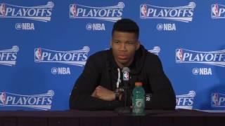Giannis Middleton Monroe Postgame Interview Raptors vs Bucks Game 3 2017 NBA Playoffs
