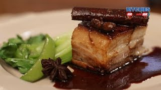 Twice Cooked Crispy Pork Belly oven baked with Star Anise and Ginger