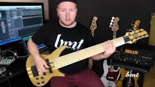 bmt alcatraz 7 string bass with bartolini g6 pickups