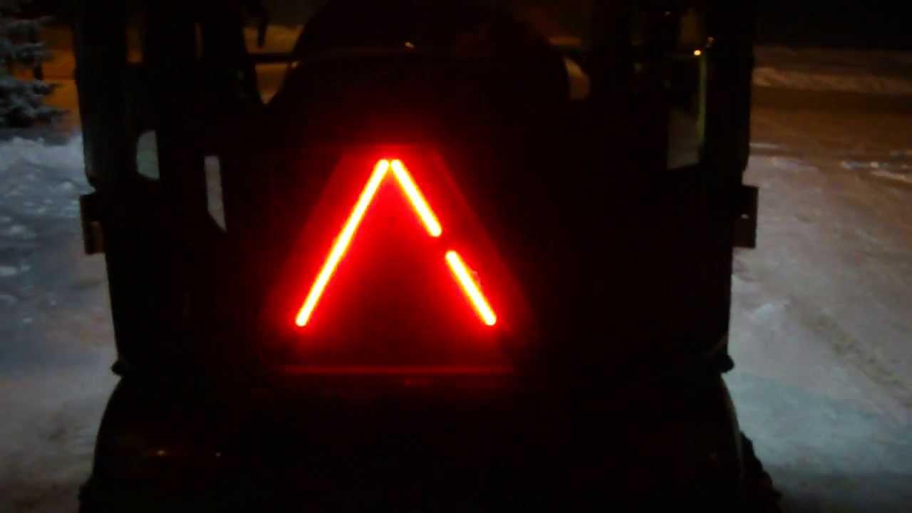 Led Lights On Slow Moving Vehicle Sign Back Of John Deere