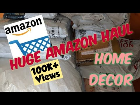Huge Amazon haul/Amazon home decor haul/unboxing and product review