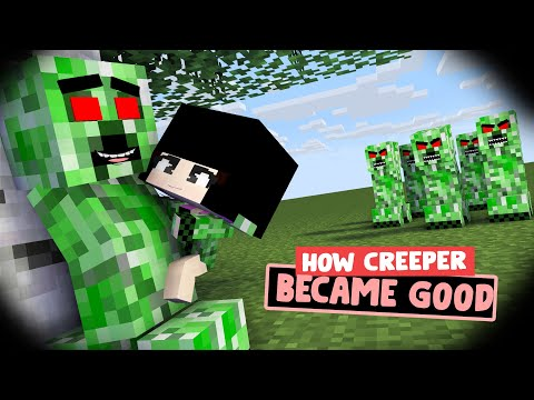 HOW CREEPER BECAME GOOD - SAD/ACTION ANIMATION (MONSTER SCHOOL STORY)