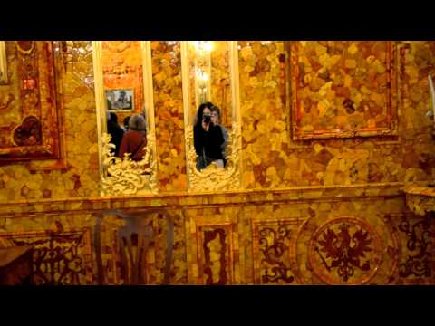 2014 КРАСОТА! Янтарная комната восстановлена Екатерининский дворец