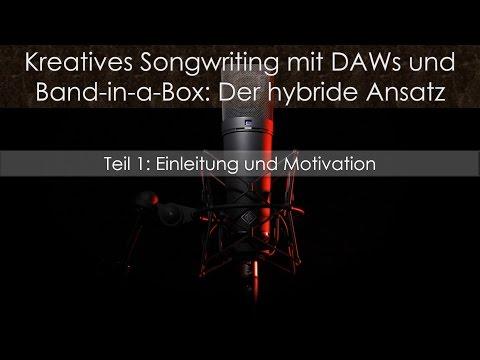 Band-in-a-Box 2017 und Cubase 9: Kreatives Songwriting Teil 1