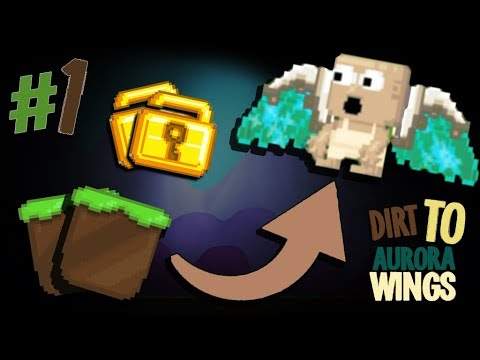 FIRST 5 WLS??! l Dirt To Aurora Wings #1 l Growtopia |