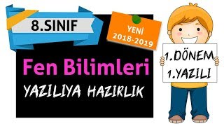 8.sınıf FEN BİLİMLERİ 1.dönem 1.yazılı I YENİ 2018-2019