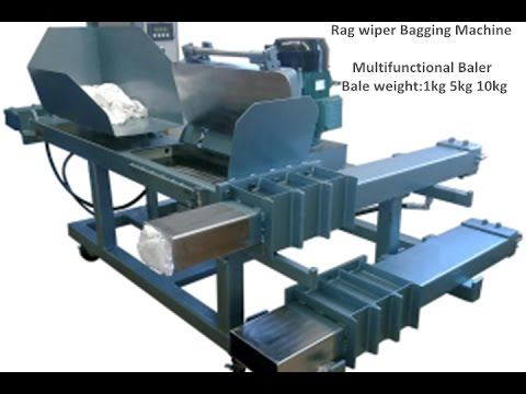 TCM BALER- wipping rags bagging press baler Denmark  Turkey  Tanzania