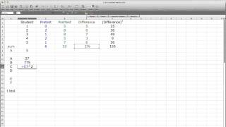 How to Use Excel to Calculate t test of dependent groups (repeated measures)