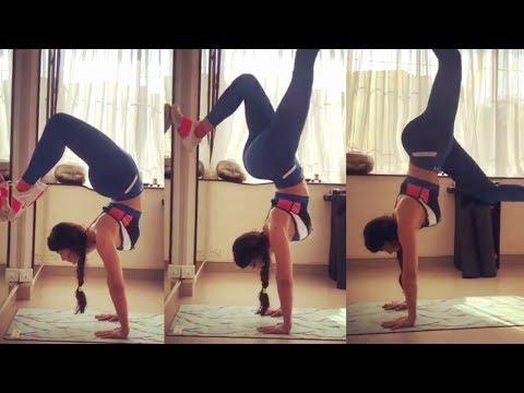 Jacqueline Fernandez Handstand Yoga Mp3
