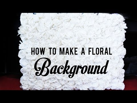 how to make a floral background