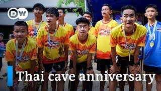 Thailand celebrates anniversary of cave rescue | DW News