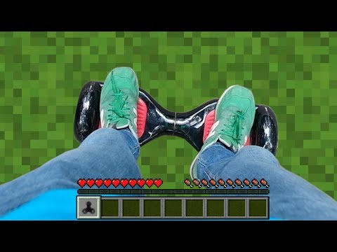 REALISTIC MINECRAFT IN REAL LIFE GYROSCTOOTER AND FIDGET SPINNER SECRET CRAFT