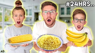 WE ONLY ATE YELLOW FOOD FOR 24 HOURS!