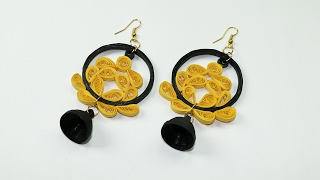 Quilling Earrings - DIY Quilling Matching Jhumkas, Super Easy and Cheap
