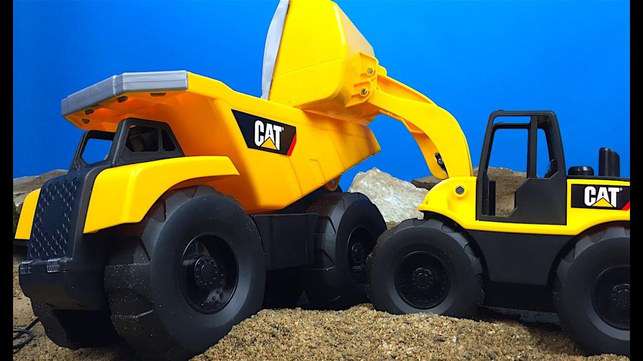 Con Ruedas Cat Camion Volteo Motorizadas De Frontal Mando Y Cargadora DeIEHYW29