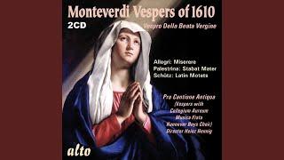 Vespro Della Beata Vergine (Marienvesper) : 5. Concerto: Pulchra es