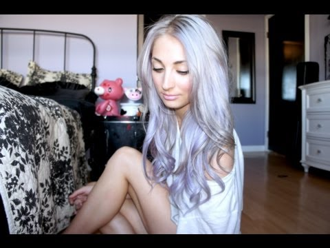pastel silver purple ombre hair tutorial youtube