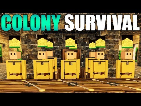 Colony Survival - GOLD COIN MINT PRODUCTION & GRINDSTONE UPDATE - Colony Survival Gameplay Part 4