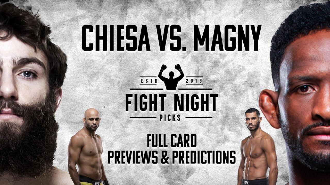 Watch UFC Fight Night : Chiesa vs. Magny 1/20/21