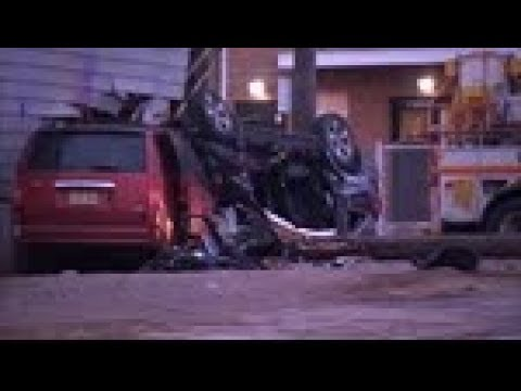 2 dead in horrific, high-speed crash in Newark, New Jersey